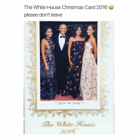 White House, Girl Memes, and Aws: The White House Christmas Card 2016  please don't leave  The Mite Rouse  2016 aw