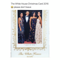 Valentine's Day, White House, and Mute: The White House Christmas Card 2016  please don't leave  The Mute Rouge On valentines day imma be obamaself
