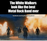 gameofthrones tv asoiaf hbo: The White Walkers  look like the best  Metal Rock Band ever  facebook.com/AryaFromHousesstark gameofthrones tv asoiaf hbo