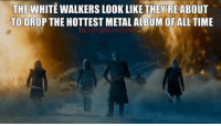 Memes, Rey, and 🤖: THE WHITE WALKERS LOOK LIKE THEY RE ABOUT  TO DROP THE HOTTEST METALALBUM OF ALL TIME  THEREDVIPERS REY 😄