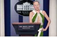 """""""I resent the implication that this administration is shamelessly plugging Ivanka Trump's clothing line."""": THE WHITE  WASHINGTO  THE WHITE HOUSE  WASHINGTON """"I resent the implication that this administration is shamelessly plugging Ivanka Trump's clothing line."""""""