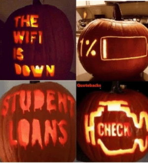 Scariest pumpkins ever!: THE  WIFI  (%  OWN  Quotebacks  STUDEN  OANS  CHECH Scariest pumpkins ever!