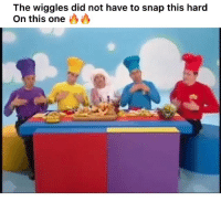 Funny, The Wiggles, and Snap: The wiggles did not have to snap this hard  On this one 😤🔥🔥