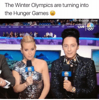 Funny, The Hunger Games, and Lit: The Winter Olympics are turning into  the Hunger Games  IG: @davie dave  LIVE  xo District 12 is lit