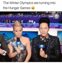 The Hunger Games, Shit, and Winter: The Winter Olympics are turning into  the Hunger Games  IG: @davie dave  LIVE Please tho. Didn't realize how boring this shit is (@davie_dave)