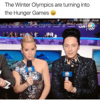 Funny, The Hunger Games, and Winter: The Winter Olympics are turning into  the Hunger Games  IG: @davie dave  LIVE Next up, archery! (@davie_dave)