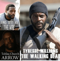 Chad Coleman in some tv shows! Recognise him in any? thewalkingdead twd tyreese thewire arrow: THE WIRE  TYRESSE WILLIAMS  Tobias Church  THE WALKING DEAD  ARROW Chad Coleman in some tv shows! Recognise him in any? thewalkingdead twd tyreese thewire arrow