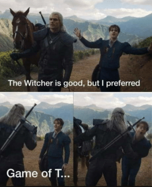 Opinions on season 1?: The Witcher is good, but I preferred  Game of T... Opinions on season 1?