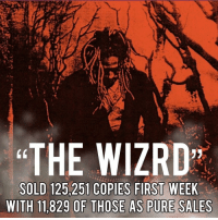 Memes, Charts, and 🤖: THE WIZRD  SOLD 125,251 COPIES FIRST WEEK  WITH 11,829 OF THOSE AS PURE SALES The album sold 125,251 copies first week with 11,829 of those as pure sales. This puts him at 1 on the charts❗️❗️