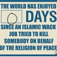 Memes, 🤖, and Job: THE WORLD HAS ENJOYED  LO DAYS  SINCE ANISLAMIC WACK  JOB TRIED TO KILL  SOMEBODY ON BEHALF  OF THE RELIGION OF PEAC Exactly ZERO days 😒 england Parliament Westminsterbridge Westminster police officer London uk britain