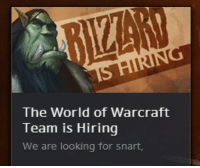 Tumblr, Blog, and Help: The World of Warcraft  Team is Hiring  We are looking for snart, majora: please help them find snart