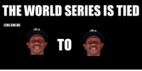 Mlb, Ups, and Cubs: THE WORLD SERIES IS TIED  @MLBMEME  TO THE CUBS WIN AND TIE UP THE SERIES.