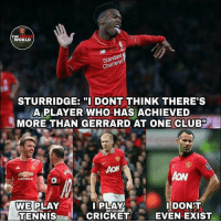 "Oh come on, stop joking bro 😂😂😂 . Pic : The United World (facebook) . RESPECT mufc manchesterunited mourinho davesaves lindelof darmian mkhitaryan nemanjamatic andreaspereira bailly pogba lukaku martial anderherrera rashford philjones daleyblind lingard ashleyyoung valencia romero lukeshaw smalling daviddegea juanmata manutd14_ manutd14_id: THE  WORLD  Standard  Chartered  STURRIDGE:DONT THINK THERE'S  A PLAYER WHO HAS ACHIEVED  MORE THAN GERRARD AT ONE CLUB""  AON  WE PLAY  TENNIS  PLAY  CRICKET  DONIT  EVEN EXIST Oh come on, stop joking bro 😂😂😂 . Pic : The United World (facebook) . RESPECT mufc manchesterunited mourinho davesaves lindelof darmian mkhitaryan nemanjamatic andreaspereira bailly pogba lukaku martial anderherrera rashford philjones daleyblind lingard ashleyyoung valencia romero lukeshaw smalling daviddegea juanmata manutd14_ manutd14_id"