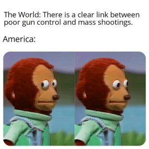 America, Guns, and Reddit: The World: There is a clear link between  poor gun control and mass shootings.  America: gUnS dOn'T kILl PeOpLe.