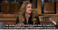 """<p><a href=""""http://www.nbc.com/the-tonight-show/video/drew-barrymore-eats-people-in-santa-clarita-diet/3461371"""" target=""""_blank""""><b></b>Drew Barrymore wants her new TV show to be an escape for viewers.</a><br/></p>: THE WORLDISA TOUGH PLACE AND TO HAVEA  LITTLE ESCAPISM ANDENTERTAINMENT IS CRUCIAL. <p><a href=""""http://www.nbc.com/the-tonight-show/video/drew-barrymore-eats-people-in-santa-clarita-diet/3461371"""" target=""""_blank""""><b></b>Drew Barrymore wants her new TV show to be an escape for viewers.</a><br/></p>"""