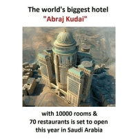 """Memes, Hotel, and Restaurants: The world's biggest hotel  """"Abraj Kudai""""  with 10000 rooms &  70 restaurants is set to open  this year in Saudi Arabia SuperTroll"""