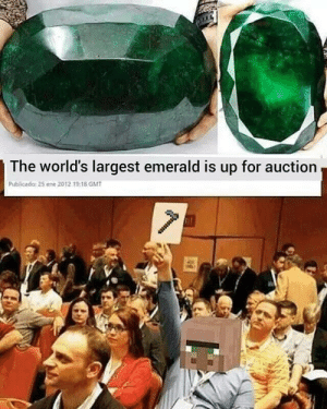 awesomesthesia:  This villagers will do anything for it: The world's largest emerald is up for auction  Publicada: 25 ene 2012 19:18 GMT awesomesthesia:  This villagers will do anything for it
