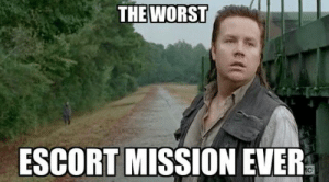 """Memes, The Worst, and Escort: THE WORST  ESCORT MISSION EVER The Funniest """"Walking Dead"""" Memes Inspired by Season 5 (27 pics + 4 ..."""