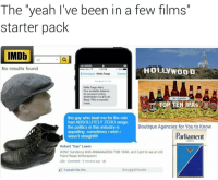 """Appalled, Memes, and Politics: The yeah I've been in a few films  starter pack  IMDb  All  CARRIER  No results found  HOLLYWOOD  BELL  K Messages  Wells Fargo  Contact  Wells Fargo Alert:  Your available balance  for account ending  13 is $16.40.  Reply TRA to transfer  TOP TEN IPAs  funds.  IPA  the guy who beat me for the role  had ABSOLUTELY ZERO range,  Boutique Agencies for You to Know  the politics in this industry is  appalling. sometimes i wish i  Parliament  wasn't straight ll  LIGHTS  Robert """"Day"""" Lewis  WOW! Sundance WAS AMAAAAAZING THIS YEAR, and I got to see an old  friend Reese Witherspoon!  Like Comment  9 minutes ago  douggiehouse  D 4 people like this. *meets Reese Witheredpoon once*"""