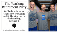 The GrandpaRossy retirement tour is in full swing. Let @ARizzo44 & @KrisBryant_23 explain.: The Yearlong  Retirement Party  We'll talk in October.  That's how we wanna  end it. The ring can be  the last thing  Let's get it  by Anthony Rizzo, Kris Bryant & David Ross  HE TARGET The GrandpaRossy retirement tour is in full swing. Let @ARizzo44 & @KrisBryant_23 explain.