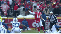 Memes, Game, and 🤖: The youngest QB since 2009 to win a playoff game.   @PatrickMahomes5's Divisional Round Highlights! 🎯   #LetsRoll #NFLPlayoffs #INDvsKC https://t.co/31SkclA0gJ
