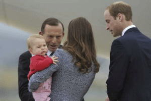 theabbottchronicles:  Tony Abbott has recently attempted to eat the royal baby. Kate and William were enjoying their trip around Australia up until they encountered the reptilian Prime Minister. At first they thought he was just eager to greet them until he got closer and they realised his intention was in fact to eat their baby whole like a bird's egg. The royal couple barely managed to escape with their baby unscathed when Prince William reflected the Australian sun off the bald patch of his head directly into Abbott's lizard eyes and ran. : theabbottchronicles:  Tony Abbott has recently attempted to eat the royal baby. Kate and William were enjoying their trip around Australia up until they encountered the reptilian Prime Minister. At first they thought he was just eager to greet them until he got closer and they realised his intention was in fact to eat their baby whole like a bird's egg. The royal couple barely managed to escape with their baby unscathed when Prince William reflected the Australian sun off the bald patch of his head directly into Abbott's lizard eyes and ran.