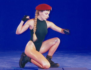 Scream, Street Fighter, and Tumblr: theactioneer:  Kylie Minogue, Street Fighter: The Movie arcade mo-cap session (1995)   Im gonna SCREAM YES YES YES