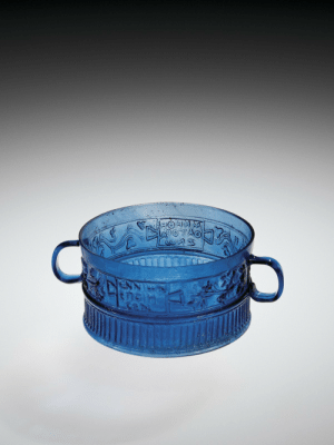 Tumblr, Blog, and Date: theancientwayoflife:~ Cup. Maker: Ennion Placeof origin: Syria, Northern Italy, Palestine Date: A.D. 1-50