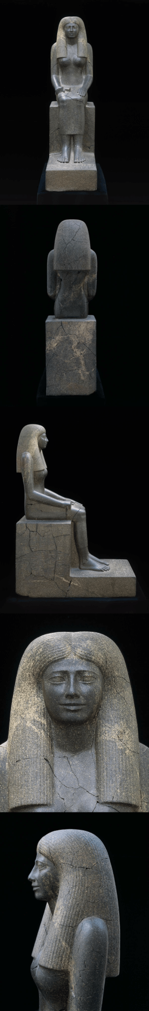 Period, Tumblr, and Blog: theancientwayoflife: ~ Statue of Lady Sennuwy. Culture: Egyptian Period: Middle Kingdom, 12th Dynasty, reign of Senwosret I Date: 1971–1926 B.C. Place of origin: Kerma, Nubia (Sudan)