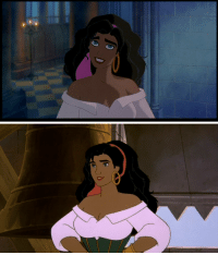 Aladdin, Tumblr, and Beauty and the Beast: thebigdeepcheatsy:  jwblogofrandomness:  once-delight:  xavantina:  drsofialamb:  the sudden decrease in animation quality between the first hunchback and the sequel is both hilarious and sad     The Return of Jafar  charliekelly69:    i had to reblog this because im actually pissig mysefl  Let's take a second to compare Aladdin to The Return of Jafar: Ouch  Esmorolda and Corpet  Let's take a look at Belle. First from the original Beauty and the Beast. Now from Belle's Magical World. Poor Belle.  Esmorolda, Corpet, and Bolle