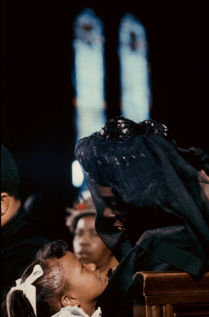 theblooodcountess: April 9, 1968: Coretta Scott King is pictured with her daughter, Bernice King, during the funeral of her husband, civil rights leader Dr. Martin Luther King Jr. at the Ebenezer Baptist Church in Atlanta, Georgia. : theblooodcountess: April 9, 1968: Coretta Scott King is pictured with her daughter, Bernice King, during the funeral of her husband, civil rights leader Dr. Martin Luther King Jr. at the Ebenezer Baptist Church in Atlanta, Georgia.