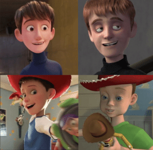 thebluehue22:  libertarirynn: thebiggaybagel:   libertarirynn:   littlemisstfp:  shanigrim:  Pixar I will not stand for this ugly erasure   I'm fucking cackling    They really fucked up the Andy design model in TS4. Like yes I get that animation changes and advances but even with changing technology he maintained the same basic facial structure even when aged him up. TS4 gave him a completely different skeletal structure.    he was really fucking ugly in the originals I'm fuckin relieved I dunno WHAT y'all are on    Pixar has historically been pretty bad at human models, but child and adult Andy in TS3 looked fine to me.  You know whose good at humans? Dreamworks <3 Even their subsidary with lower budget does stylized people well.   I love the DreamWorks models from HTTYD especially. Look at their female characters! No Sameface Disease in sight: thebluehue22:  libertarirynn: thebiggaybagel:   libertarirynn:   littlemisstfp:  shanigrim:  Pixar I will not stand for this ugly erasure   I'm fucking cackling    They really fucked up the Andy design model in TS4. Like yes I get that animation changes and advances but even with changing technology he maintained the same basic facial structure even when aged him up. TS4 gave him a completely different skeletal structure.    he was really fucking ugly in the originals I'm fuckin relieved I dunno WHAT y'all are on    Pixar has historically been pretty bad at human models, but child and adult Andy in TS3 looked fine to me.  You know whose good at humans? Dreamworks <3 Even their subsidary with lower budget does stylized people well.   I love the DreamWorks models from HTTYD especially. Look at their female characters! No Sameface Disease in sight