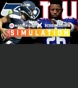 .@thecheckdown & @EAMaddenNFL are simulating the entire 2020 season!  Watch highlights from the @Seahawks vs. @Giants Week 13 matchup. https://t.co/1LQMGhliur: .@thecheckdown & @EAMaddenNFL are simulating the entire 2020 season!  Watch highlights from the @Seahawks vs. @Giants Week 13 matchup. https://t.co/1LQMGhliur