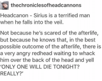 ••••••• lily-sirius - one of my top brotp ----- can anyone recommend some marauder fanfics with lily-Sirius brotp (never realised how much I love lily-Sirius as a brotp until I read the life and times omg): thechroniclesofheadcannons  Headcanon Sirius is a terrified man  when he falls into the veil.  Not because he's scared of the afterlife  but because he knows that, in the best  possible outcome of the afterlife, there is  a very angry redhead waiting to whack  him over the back of the head and yell  'ONLY ONE WILL DIE TONIGHT?  REALLY?' ••••••• lily-sirius - one of my top brotp ----- can anyone recommend some marauder fanfics with lily-Sirius brotp (never realised how much I love lily-Sirius as a brotp until I read the life and times omg)