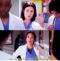 thedailygreys 4.01  That was four rules  You said  Rule number five when Lmove  e.  you mo lexieweek day 4, intern