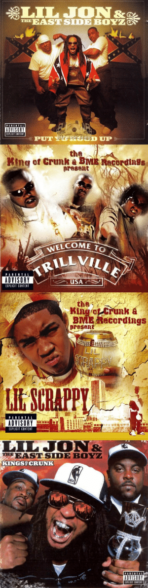 Bruh, Parental Advisory, and Shit: THEEASTSIDE BOYL  PARENTA L  ADVISORY  EXPLICIT CONTENT   the  King of Crunk a BME Racordings  present  WELCOME T  ILLVİ  PARENTAL  ADVISORY  EXPLICIT CONTENT  USA   Kingo Crunk  BMERecordings  presant  PARENTAL  EXPLICIT CONTENT   LLTON&  Sc  THE EAST SIDE BOYZ  KINGSPCRUNK  MBA  PARENTAL  ADVISORY  EXPLICIT CONTENT bruh i owned all this shit tho
