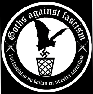 "thefugitivesaint:Goths Against FascismLxs Fascistas no bailan en nuestra oscuridad (""The Fascists do not dance in our darkness""): thefugitivesaint:Goths Against FascismLxs Fascistas no bailan en nuestra oscuridad (""The Fascists do not dance in our darkness"")"