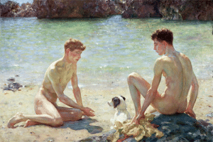 thegirlinthebyakko: positively-lgbtq:  harcules:  moika-palace: Comrades, Henry Scott Tuke 1924. Two bros chilling at the beach 5 feet apart cuz they're not gay    …and they were comrades  oh my god, they were comrades : thegirlinthebyakko: positively-lgbtq:  harcules:  moika-palace: Comrades, Henry Scott Tuke 1924. Two bros chilling at the beach 5 feet apart cuz they're not gay    …and they were comrades  oh my god, they were comrades
