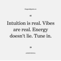 Follow @thegoodquote.co 🌻 . thegoodquote: thegoodquote.co  Intuition is real. Vibes  are real. Energy  doesn't lie. Tune in  @DIMENSIONAL Follow @thegoodquote.co 🌻 . thegoodquote