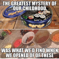 Reddit, Mystery, and Fridge: THEGREATEST  MYSTERY  O  OUR CHILDHOOD  THROW  WEOPENEDOFOFTHESE