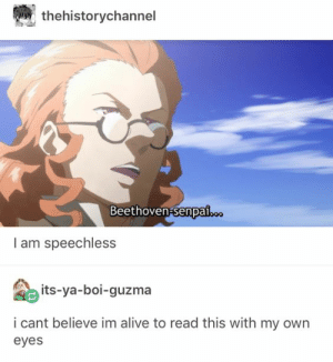 Glorious: thehistorychannel  Beethoven-senpai..  I am speechless  its-ya-boi-guzma  i cant believe im alive to read this with my own  eyes Glorious