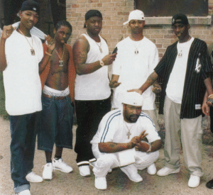 "Birdman, Juvenile, and Tumblr: thehotboxsocial:  Hot Boys + Birdman + Bun B on the set of Juvenile's ""Ha"" videoshot by: King Yella"