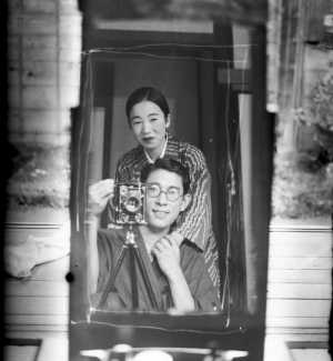 thekimonogallery:   A photographer's portrait in a mirror, a hundred years ago, Japan, ca. 1920. Text and image via Old Japanese Photos on Facebook: thekimonogallery:   A photographer's portrait in a mirror, a hundred years ago, Japan, ca. 1920. Text and image via Old Japanese Photos on Facebook