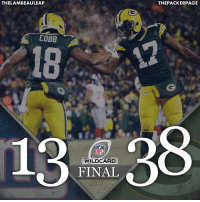 PACKERS WIN! Let's go to Dallas and keep this thing going! NYGvsGB Packers NFL GoPackGo RunTheTable @taeadams @rcobb18 @thelambeauleap: THELAMBEAULEAP  ACKERS  NFL  WILDCARD  FINAL  THE PACKER PAGE PACKERS WIN! Let's go to Dallas and keep this thing going! NYGvsGB Packers NFL GoPackGo RunTheTable @taeadams @rcobb18 @thelambeauleap