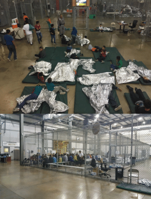"America, Children, and Tumblr: thelastmemeera: laurierrose:  architectureofdoom:  Caged migrants at the McAllen, Texas detention facility    is this a man with a gun patrolling these children? please tell me that's not a firearm   So here we have:  ✔  People targeted for their ethnicity (let's be real here, there are no detention centers for white European immigrants)  ✔  labeled as ""undesirables"" i.e. ""illegals"" to be removed from society  ✔  via indefinite incarceration without trial  ✔  with inadequate living conditions, locked in literal cages no less,  ✔ a large number of whom are children who have been torn from their families. Now, tell me again that there are no concentration camps in America."