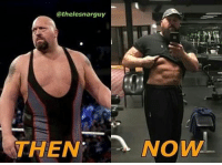Memes, Big Show, and 🤖: @thelesnarguy  THEN  NOW Repost @thelesnarguy ・・・ THE BIG SHOW THEN AND NOW....