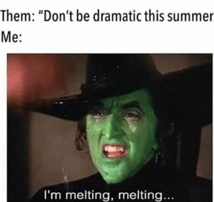 "So much yes!: Them: ""Don't be dramatic this summer  Me:  I'm melting, melting... So much yes!"
