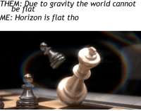 "Gravity, Http, and World: THEM: Due to gravity the world cannot  e flat  ME: Horizon is flat tho <p>Checkmate stock rising? via /r/MemeEconomy <a href=""http://ift.tt/2CgXOPM"">http://ift.tt/2CgXOPM</a></p>"