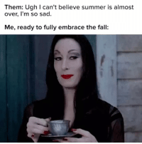Fall, Summer, and The Fall: Them: Ugh I can't believe summer is almost  over, I'm so sad.  Me, ready to fully embrace the fall i'm ready
