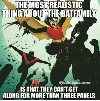 I hope to see some Batfam bickering on the big screen -Nightwing: THEMOSTREALISTIC  THING ABOUT THEBATFAMILN  IS THAT THEY CANTGET  ALONG FOR MORE THANTHREE PANELS I hope to see some Batfam bickering on the big screen -Nightwing